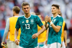 Thomas Müller reacts after the game.