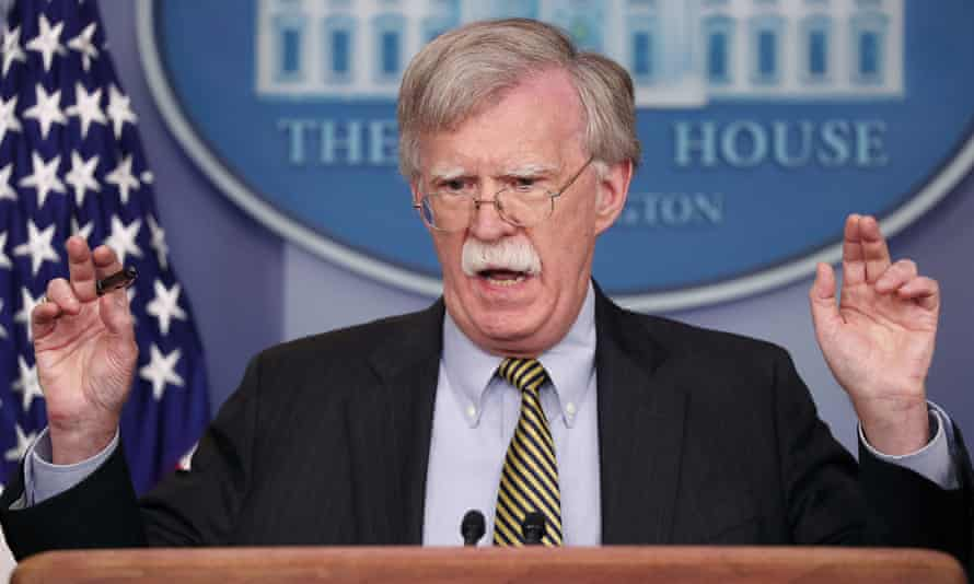 John Bolton in the White House briefing room in Washington DC on 3 October.