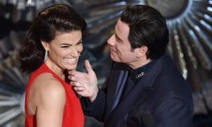 Idina Menzel and John Travolta at the 2015 ceremony.