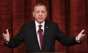 Erdoğan delivers a speech in commemoration of people killed in the attempted coup.