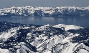 The mountains around Lake Tahoe in March 2017. One person was killed in an avalanche at a Lake Tahoe ski resort Friday.
