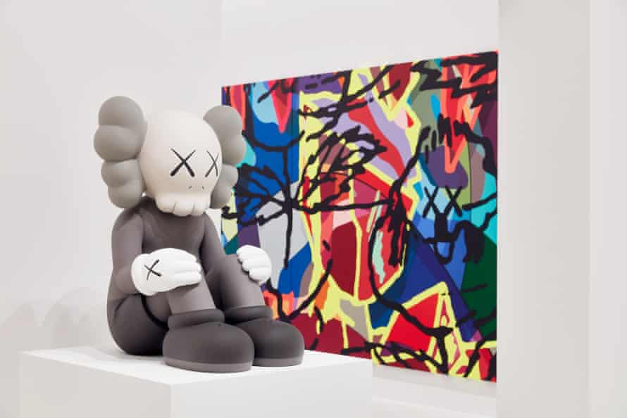 Installation view of Kaws exhibition.