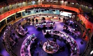 The headquarters of the Qatar-based al-Jazeera English-language channel in Doha