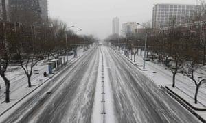 An empty street in Beijing