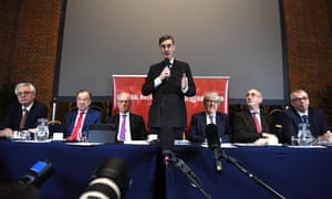 Jacob Rees-Mogg at a European Research Group press conference