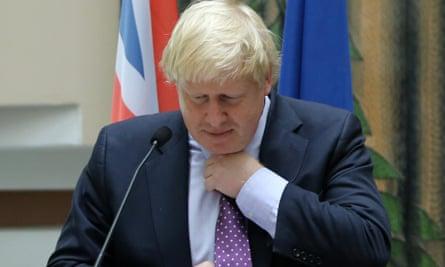 Boris Johnson on a visit to Cyprus.