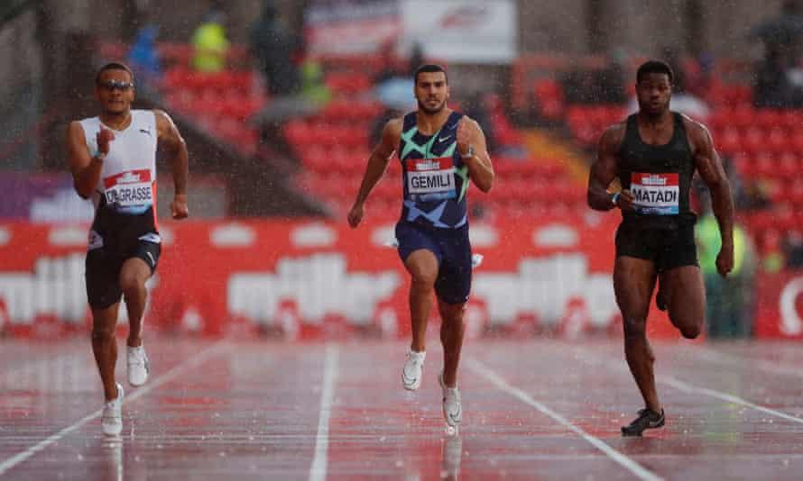 Adam Gemili came sixth in the 200m at Gateshead on Sunday.