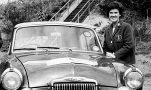 Rosemary Seers with car