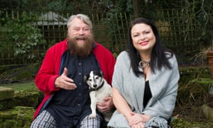 'Who better to shout than Brian Blessed!' … father and daughter at Brian's home in Surrey.
