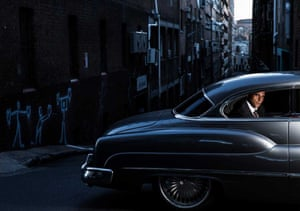 A portrait of Sydney lawyer Adam Houda, who has represented alleged terrorist suspects and who counted Sydney siege gunman Man Haron Monis as a client. Houda is seen in his 1950 Chevy in an image created by Nic Walker for Fairfax's Good Weekend. It won the portrait category at the 2015 Walkley Awards.