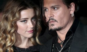 Happier days: Johnny Depp and Amber Heard arrive for the British premiere of the film Black Mass in London.