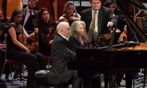 Old friends … Daniel Barenboim and Martha Argerich duet on Schubert's Rondo in A major.