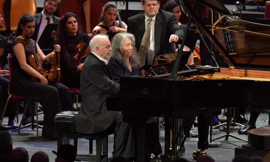 Very special indeed... Daniel Barenboim and Martha Argerich perform Schubert's Rondo in A D951 as an encore at the BBC Proms 2016