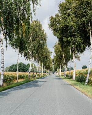 B road through mid Germany