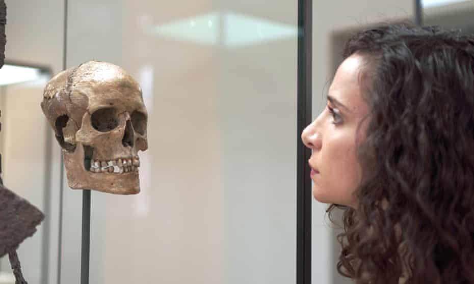 Ella Al-Shamahi comes face to face with the Viking woman's skull.