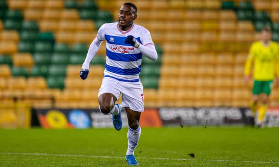 Bright Osayi-Samuel in action for QPR during their 1-1 draw against Norwich.