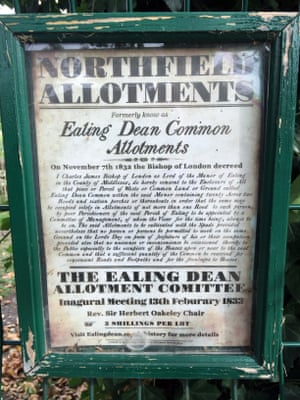 Sign in the allotments
