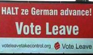 Anti-German brexit poster