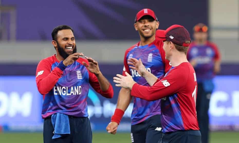 Adil Rashid took four late Windies wickets as England's bowlers impressed in Dubai