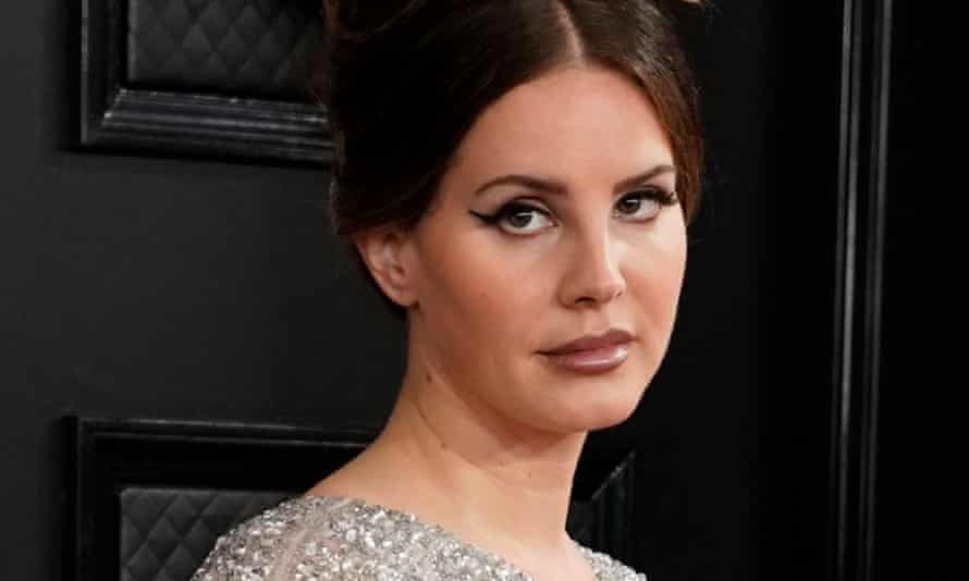 'Let this be clear – I'm not not a feminist' ... Lana Del Rey at the 2020 Grammy awards, Los Angeles.