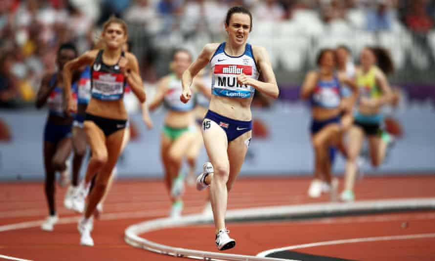 Laura Muir competing in the 1500m during last year's Anniversary Games at the London Stadium