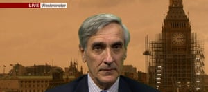 John Redwood, live from Westminster on BBC News, looks suitably apocalyptic.