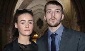 Tom Evans and Kate James, parents of 22-month-old Alfie Evans