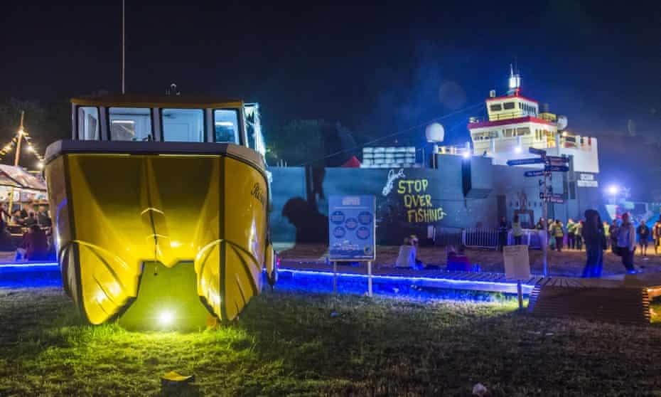 Greenpeace's installation at Glastonbury