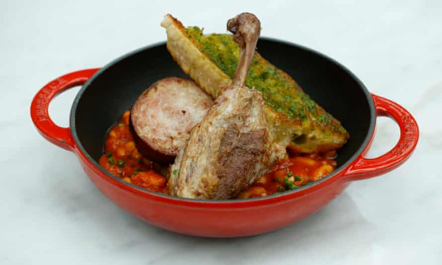 A dish of cassoulet from the Birnam Brasserie