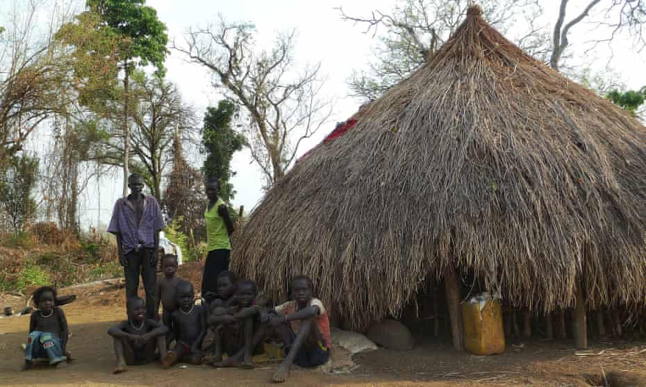 A family in Kir, Gambella. The government has been forcibly resettling hundreds of thousands of people.
