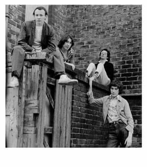 Buzzcocks in 1976 ... Howard Devoto, Steve Diggle, Pete Shelley and John Maher.