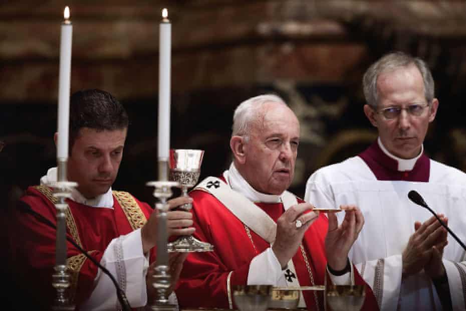 A mass in St Peter's Basilica, Vatican City, Rome