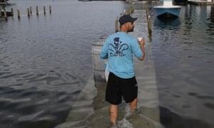 Flooding in North Miami, Florida.