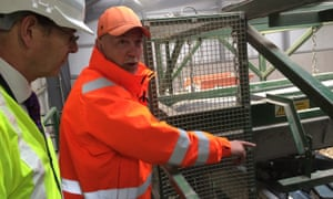 Sir James Bevan, chief executive of the Environment Agency, at a reformed waste site.