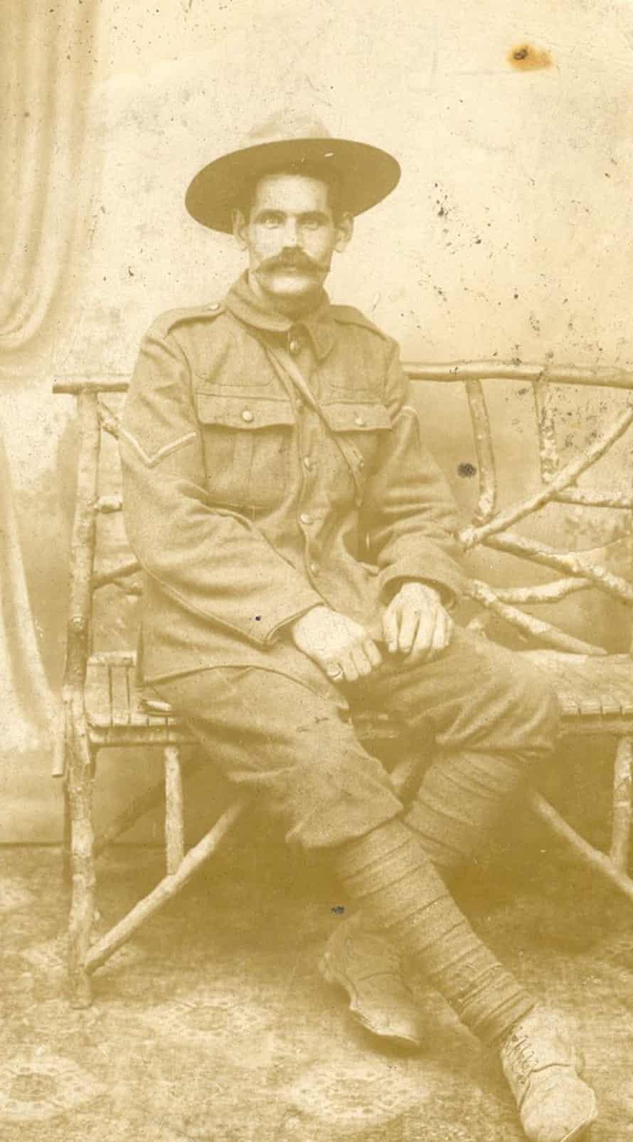 John Meaney in France, 1916.