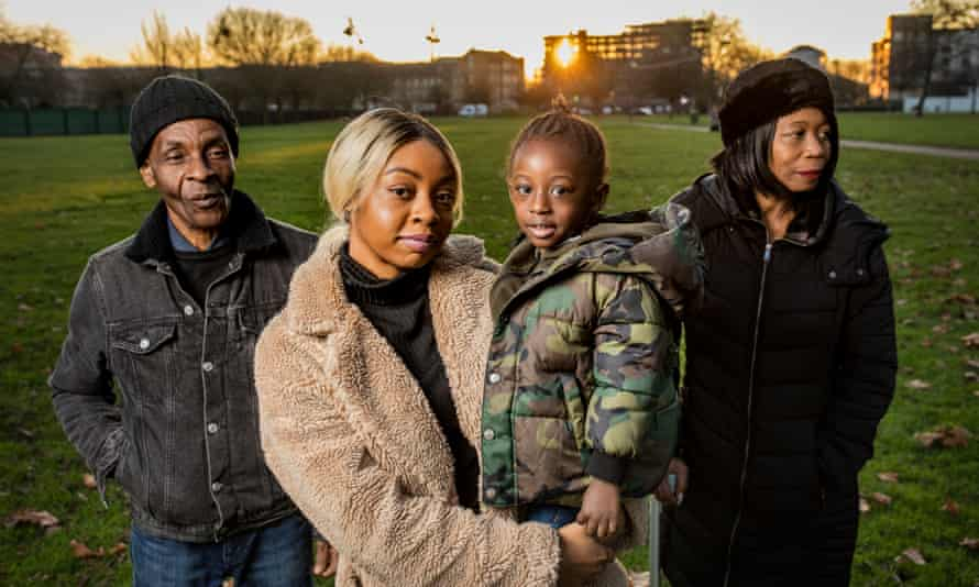 The Lawrence family (L-R): Joseph, Courtney, Kasion and Gillian St Rose