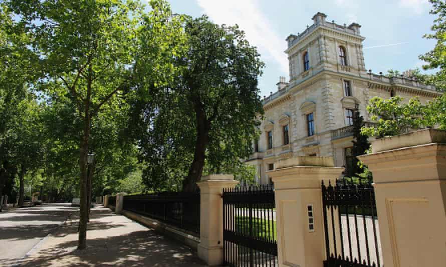 A house on Kensington Palace Gardens.