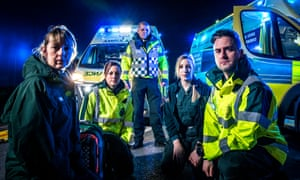 Ambulance team members (left to right): Kerry, Katie, James, Tash and Nick