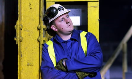 Steelworker turned actor Sam Coombes in We're Still Here.