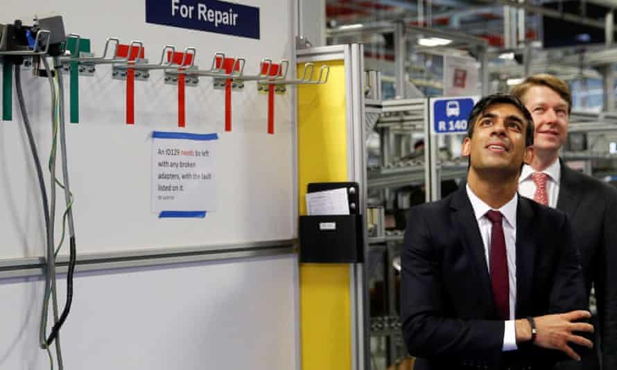 Rishi Sunak visits the Worcester Bosch factoryon 9 July.
