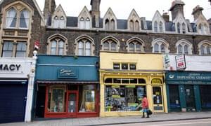 Businesses on Queenstown Road, Battersea.