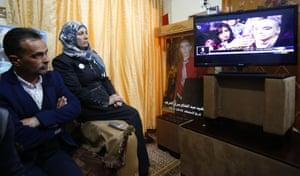 Hebron, West Bank The parents of Palestinian Abdul Fatah al-Sharif