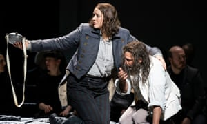 Lise Davidsen and Jonas Kaufmann in Fidelio, staged at the Royal Opera House in February 2020.