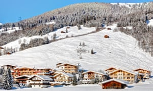 The village of Gerlos in the Tyrolean Alps