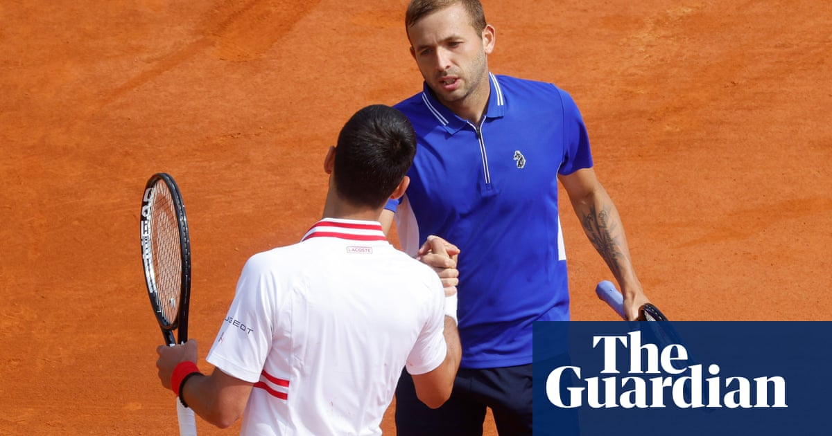 Dan Evans stuns Novak Djokovic with straight-sets win at Monte Carlo Masters