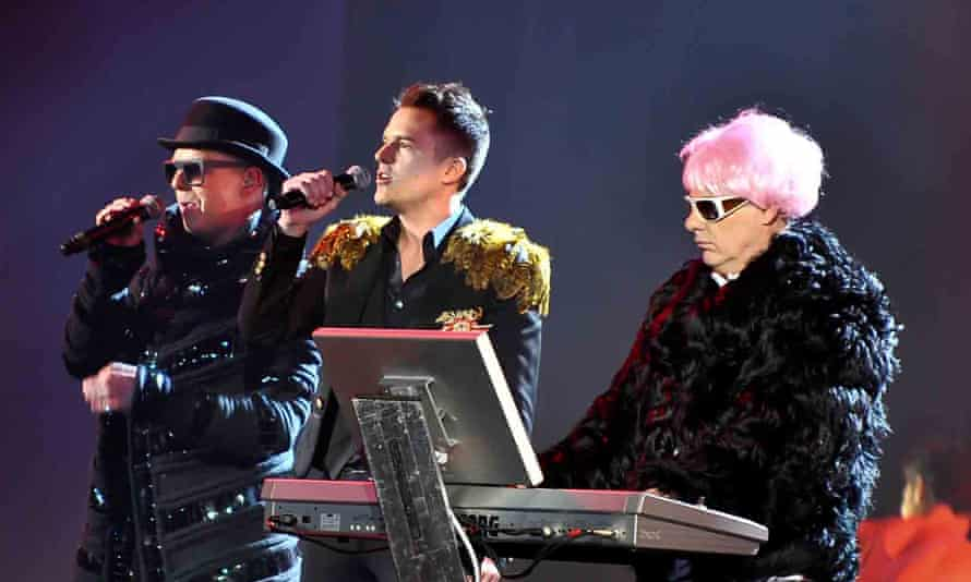 The Pet Shop Boys, nominated for a best single Brit for It's A Sin in 1988, performing at the awards in 2009