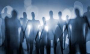 Blurry image of nightmarish alien beings.CE7GT8 Blurry image of nightmarish alien beings.