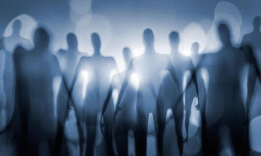 Blurry image of nightmarish alien beings