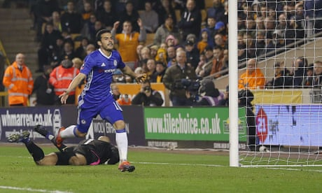 Chelsea ease past brave Wolves thanks to goals by Pedro and Diego Costa