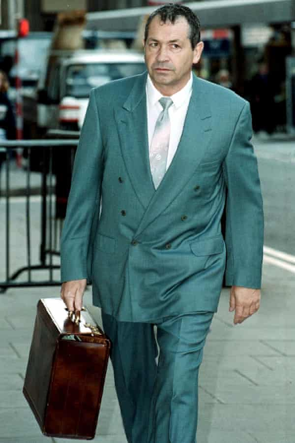 John Palmer arrives at court in 2001 for his trial for timeshare fraud.